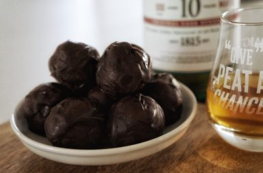 Chocolate whisky truffles